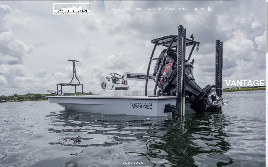 East Cape Skiffs Vantage VHP with 157 horse power merucry and black powerpole