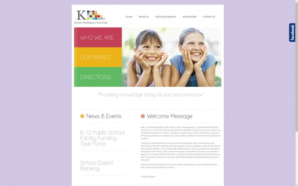 Kristie Rodriguez LLC | Kristie Rodriguez Tutoring | Web Design | WordPress Hosting