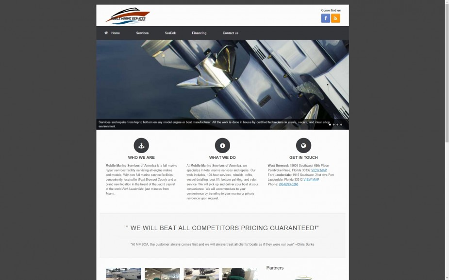 Mobile Marine Services Of America | Hosting | Design | Development | Managed Hosting | Marine Services | Repair | Web development